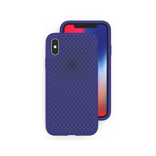 AndMesh iPhoneX/Xs Japan QQ network soft anti-collision protective cover - Indigo 4537184995823