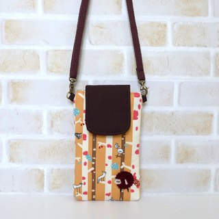 Embroidery Sheep Mobile Bag - Treetop Bird (with suspenders)