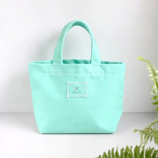 [Mint Green] Tote Bag (customized 26 English words) / Eco Bag Lunch Bag