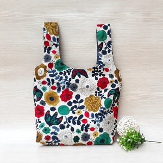 [Green Shopping Bag] Japanese Flower