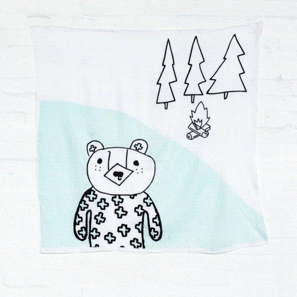 澳洲Kippins有機棉包巾 – 比利小熊