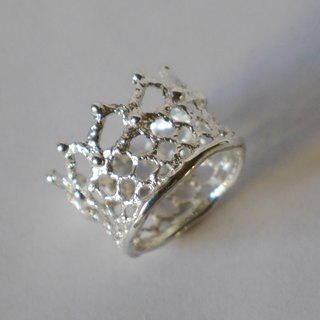 crown lace ring (sv)