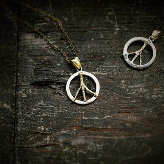 Peace mark silver pendant Peace mark pendant