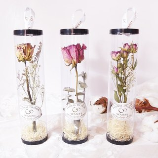 Rose bouquet small cylinder dry flower / rose / graduation gift / wedding small things
