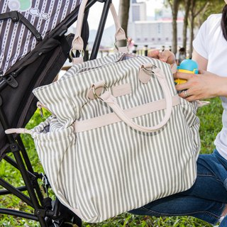 Limited discount of 40 percent Off-white striped pattern 100% cotton canvas multi-functional fashion Mummy bag