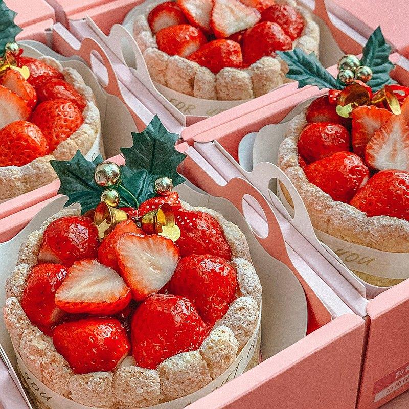 多茄米拉│草莓白巧克力慕斯蛋糕(四吋)