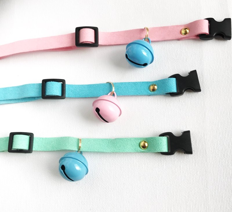e80fc386a8260 House of Cats Handmade Pastel Cat Collar with Medium Bell