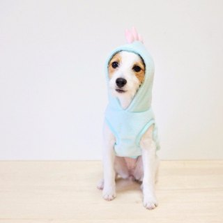 Dog hoodie Dino dog / Unicorn
