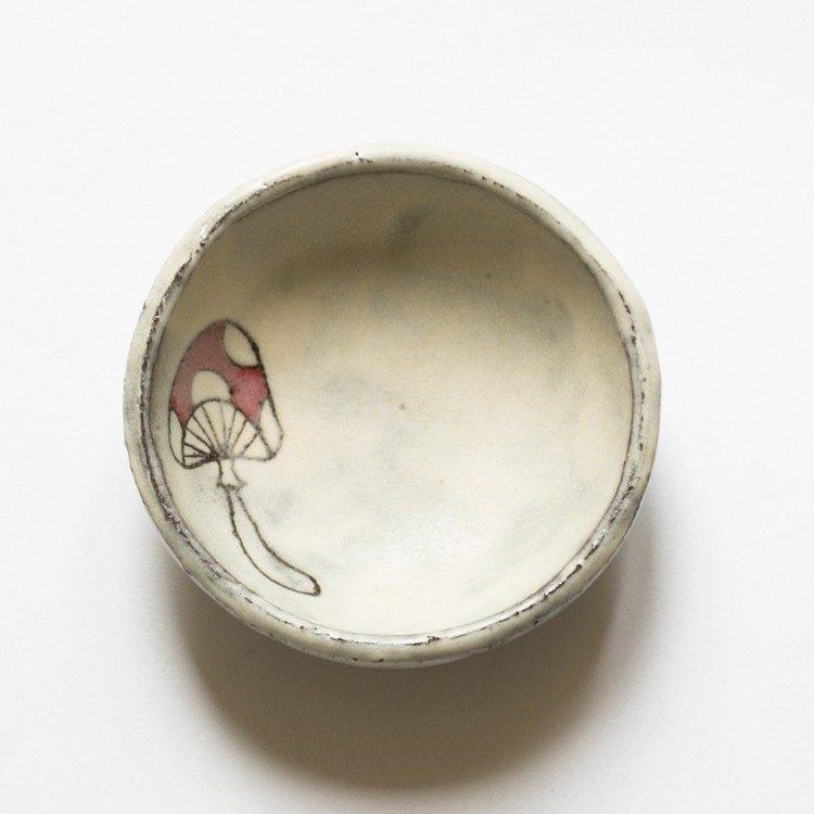 floralog 手作粗陶蘑菇小碟 圓形 zakka 可愛 乙女