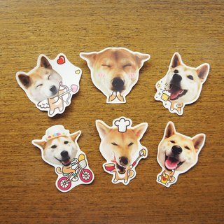 [Mangogirl] Shiba Inu fun waterproofing sticker set (full set of 6 in)