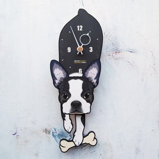 D-181 Boston Terrier - Pet's pendulum clock