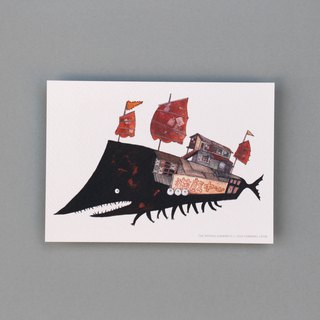 Postcard  Black ship game centre