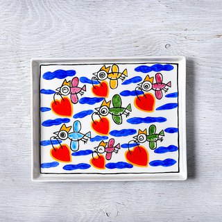 Happy birds · square plate