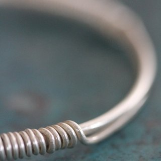 Thai Karen silver bangle (B0046)