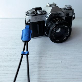 isni [camera wrist strap / leather rope ] blue color /simple & safety design