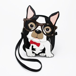 Sleepyville Critters - Nerdy Boston Terrier Crossbody Bag