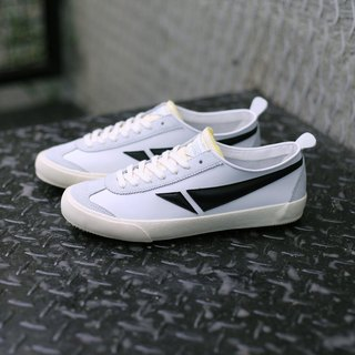 TOUCH GROUND VINTAGE BADMINTON SNEAKERS WHITE BLACK P00000HM