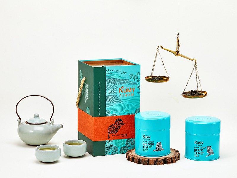 新年快閃免運 森韻禮盒 梨山黑森林清香烏龍茶, 頂級紅茶