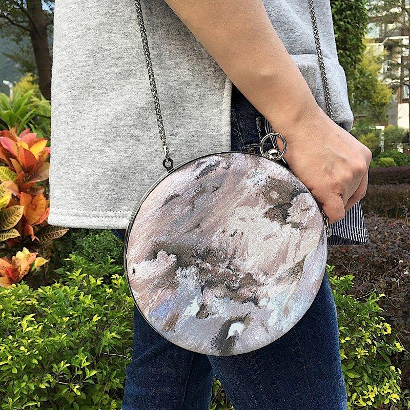 手工製作-復古兩用小圓包 / 手拿包 / 側背包
