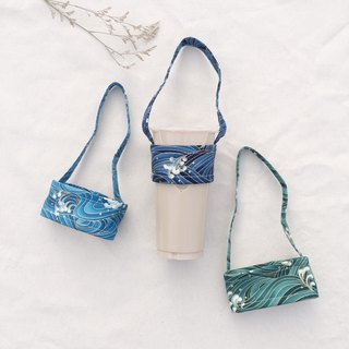 Hand made drink bag / Ukiyo-e surf