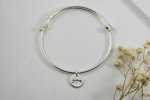 Lucky silver bracelet - birth gift on the 2nd