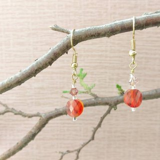 Swarovski Crystal Earrings - Siam Color (Clip-on Available)