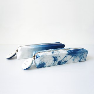 S.A x Ink Painting/ Spruce Forest (S), Indigo dyed Handmade Pencil Case