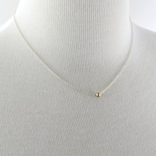 Tiny 14K Solid Gold Ball Necklace