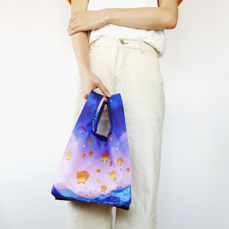 【袋走-環保購物袋】祈願九份-可折疊收納