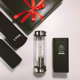 [simple-black gift box series] SHARE double glass brewing bottle / honey red oolong