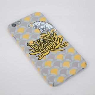 iPhone Android phone case phone case all inclusive yellow bat chrysanthemum ethnic village Chinese style