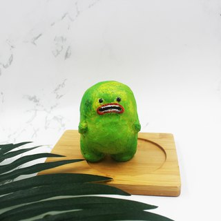 Green Little Monster - Handmade