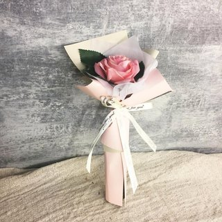 // bouquet gift box // like you pink silk roses bouquets with dried flower card / lover ceremony sisters birthday ceremony