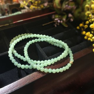 Enthusiastic - 108 ice green light jade necklace