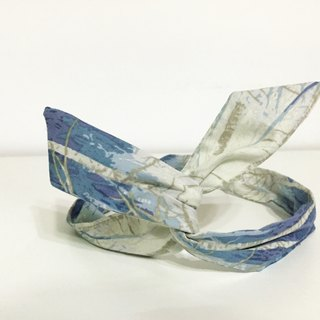 Soft wire hair band headband ::: howling (blue) :::