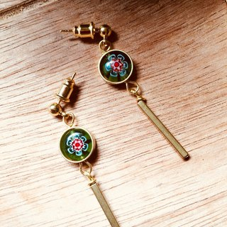 Staunch firm earrings ethnic style