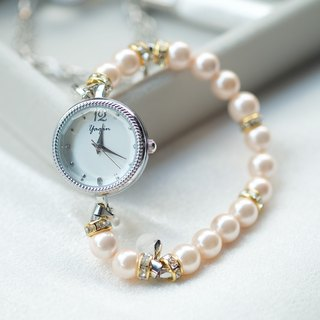 MS. OPHRA ladies bracelet watch with alphabet (PEARL)