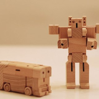 Bamloff WooBots -Transformable Wooden Robot-AutoBus