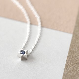 Sapphire tiny star necklace Silver 925