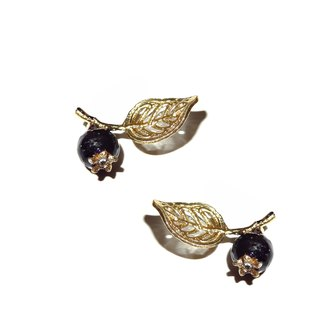 Handmade jewelry series 珐琅 series blueberry earrings Star section pre-order