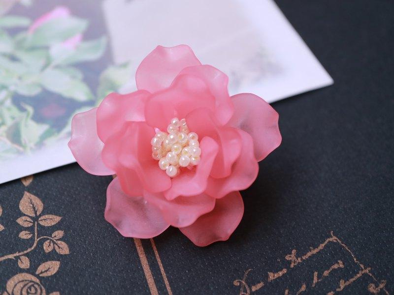 玫瑰胸針女王伊麗莎白玫瑰玫瑰單朵花胸花輕盈高貴英國粉紅公主可愛可愛少女女性
