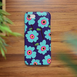 iphone case soft blue flowers for iphone5s,6s,6s plus, 7,7+, 8, 8+,iphone x