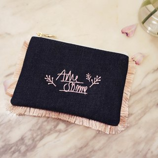 A. Strawberry Lovely Flowing Sultan Cosmetic Bag - Dark Blue