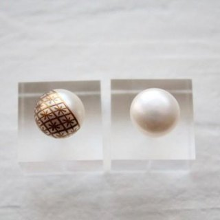MAKIE Pearl Earrings <Japanese pattern; Narihira Mitsubishi>