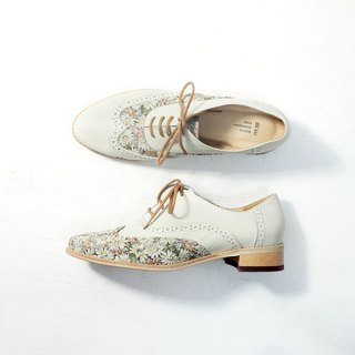 Love Flower Oxford Shoes - Aileen