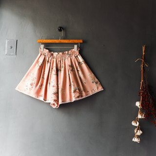 River water mountain - cool feeling light silk dream strawberry Paris lace girl antique silk a word shorts pants vintage