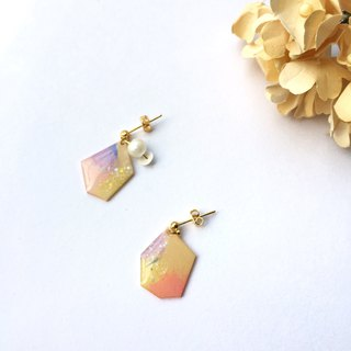 Bubble Gum Clip/Pin Earrings