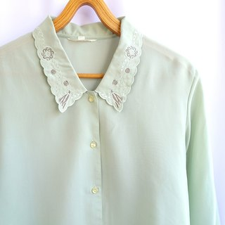 │Slowly │ Green Apple. Green - Ancient Shirt │ vintage. Retro.