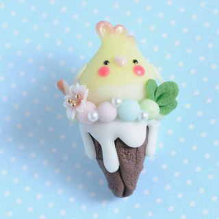 :│Sweet Dream│: The taste of summer: QQ parrot cone - Xuanfeng Bataan / key ring / gift