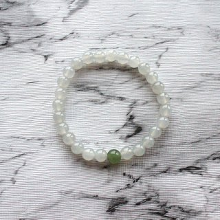 Journal-Ice Qing and pure natural white ice jade (Myanmar jade) boutique beaded bracelet exclusive items